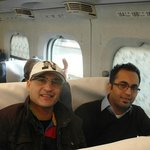 Me(cap)In the Bullet train with my pal Hamza