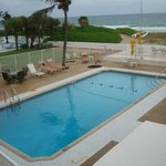 Salt water heated pool