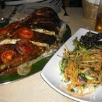 Grilled wholle fish
