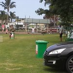 Park and room for the kids to play cricket