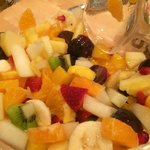 Breakfast fruit salad!