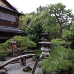 The stone garden at the centre of the Ryokan