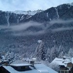 Side window view to Church & Le Praz village..