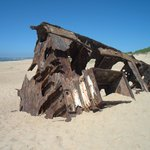 Shipwreck on Beach Near Barrancas