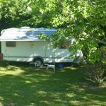 Un emplacement camping