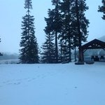 Winter wonderland at Suttle Lake lodge.