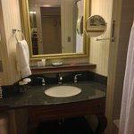 Loose Mirror, Loose Faucet Handle, but Spotlessly Clean! Rm 622