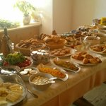 One of two breakfast tables