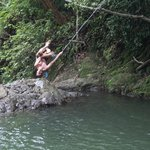 rope swing at the upper falls