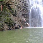 diving at the lower falls, during spanish lab