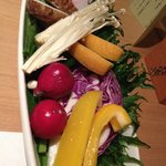 First course of the Kaiseki meal: local vegetables