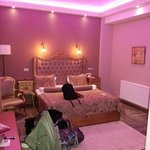purple mood lighting in our lovely room
