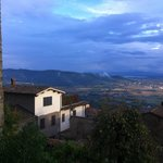 View from the town of Cortona to the Valley of Valdichiana wher La Mucchia hotel is located