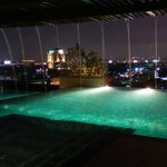 Amazing pool on the roof, with wonderfull view of Bangkok