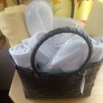 Your very own basket with all your needs for the Wellness centre.