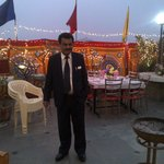 Mr Raman, the manager of the hotel