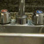 Grimy bar area faucet