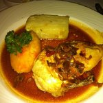chicken supreme and dauphinoise potatoes at whittlebury