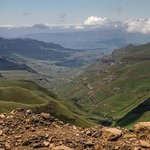 View going up Sani Pass