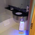 Bathroom - complete with funky neon mood lighting!