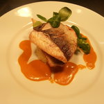 Line Caught Seabass with Shrimp Sauce