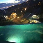 Night view from pool