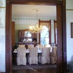 View of the dining room from the parlor