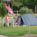 vue espace tente Camping Tournefeuille - Romorantin - Sologne