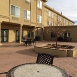 Patio area in the rear of the hotel.