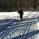 Skiing on the best groomed trails in the state