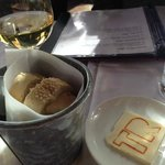 nice touch: really good bread and butter, Gewirtztraminer by Willm