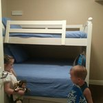 beedroom 3 bottom bunk is a full and top is standard twin w/flat screen tv & dvd player