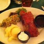 A weird HUNK of supposed primerib. Over cooked cut wrong, no flavor, dry. Mashed potatoes -boxed