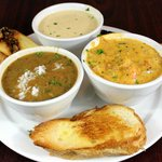 3 Side Combo with Seafood Gumbo, Crawfish Etoufee and Crab Bisque