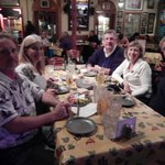 dinner with friends at Bakkhus Taverna