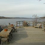 Deck at rear of bnb, right in the Hudson River