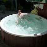 Jacuzzi en patio central