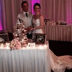 My sister and husband cutting the cake.