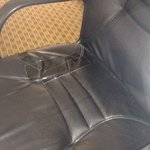 Duct tape all over desk chair