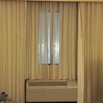 "Curtains fully ""closed"""