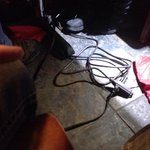 This was under our table...at least 4 grills were plugged into the extension cord across the roo