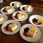 Steve's lemon cheesecake with mixed berry compote