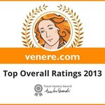 "Venere award 2013 ""Top overall Ratings"""