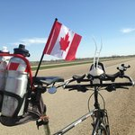 A beautiful prairie day for a bike ride across Canada