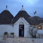 My husband in the doorway of our trullo