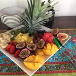 breakfast tropical fruit tray