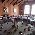 The dining area ready for an event