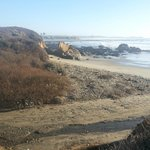 beach in front of costanoa