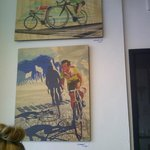 local art - cyclists are welcome here