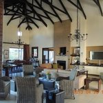 Full of character with high ceilings in the living room that overlooks the lake
